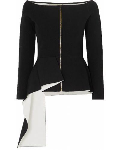 Асимметричная черная куртка из вискозы Roland Mouret