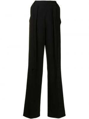 Черные широкие брюки с завышенной талией с драпировкой Proenza Schouler