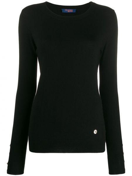 Топ с длинными рукавами - черный Trussardi Jeans