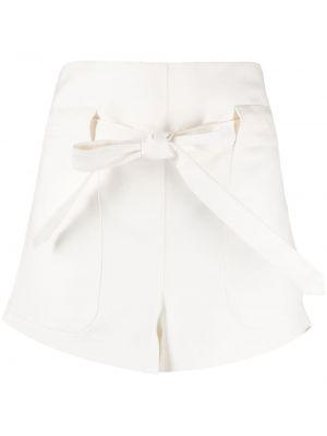 Хлопковые белые шорты с карманами Wandering
