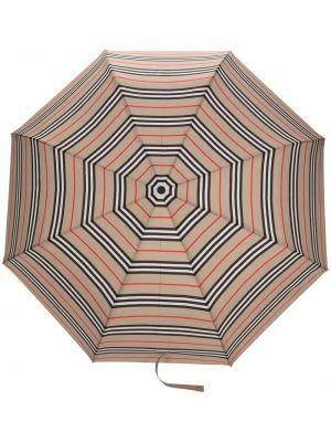 Beżowy parasol automatyczny srebrny Burberry