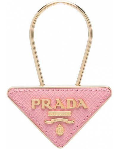Różowy złoty charms Prada