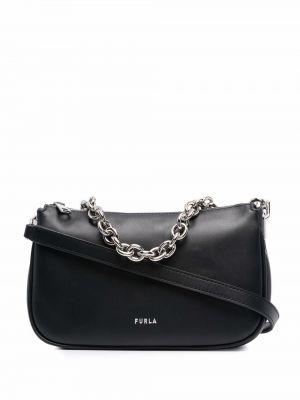 Кожаная сумка - черная Furla
