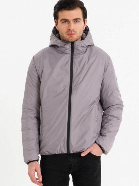 Серая теплая утепленная куртка Lab Fashion