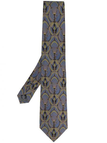 Czarny krawat z jedwabiu z printem Gianfranco Ferré Pre-owned