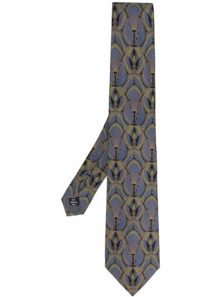 Фиолетовый шелковый галстук винтажный Gianfranco Ferre Pre-owned