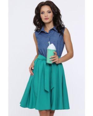 Платье с поясом в горошек платье-сарафан Dstrend