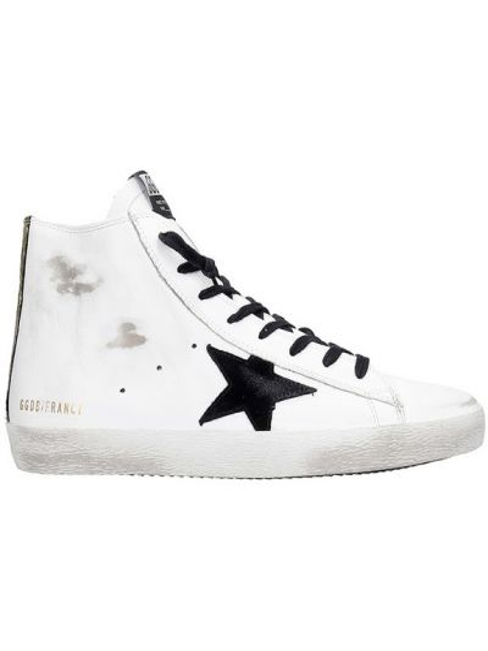 Czarne sneakersy skorzane koronkowe Golden Goose