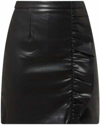 Czarna spódnica mini kopertowa Suncoo