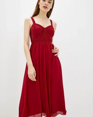 Вечернее платье бордовый красный Little Mistress