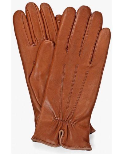 Коричневые кожаные кожаные перчатки Roeckl