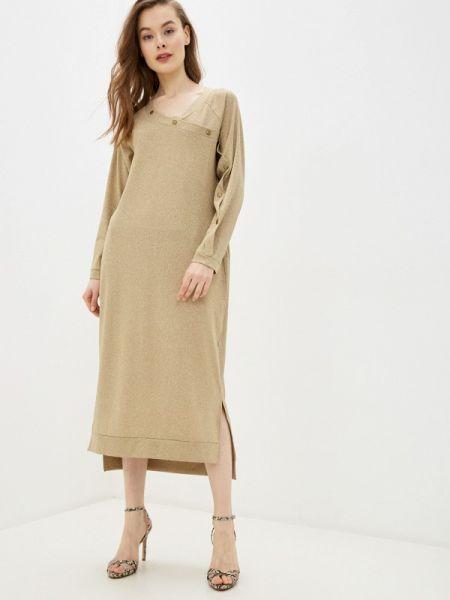 Вечернее платье осеннее золотой Adzhedo
