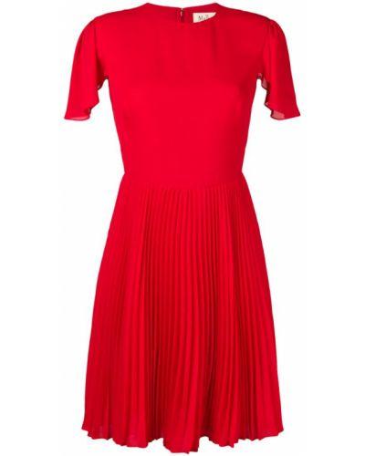 Приталенное платье миди - красное Mulberry