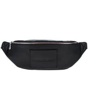 Поясная сумка на молнии черная Calvin Klein Jeans
