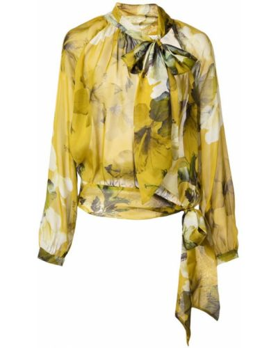 Блузка с манжетами свободного кроя Michelle Mason