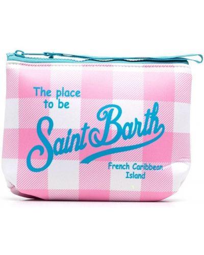 Розовый клатч на молнии в клетку Mc2 Saint Barth Kids
