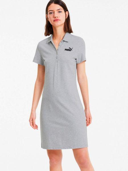 Платье платье-сарафан серое Puma