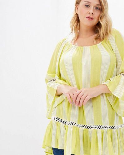 Блузка зеленый Evans