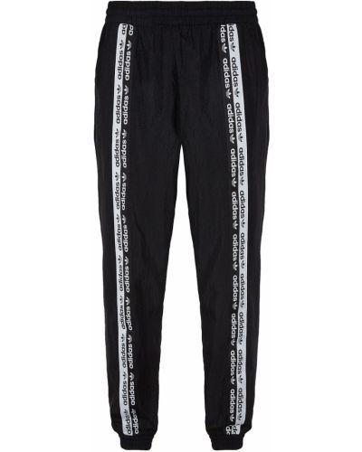 Спортивные брюки с карманами черно-белые Adidas