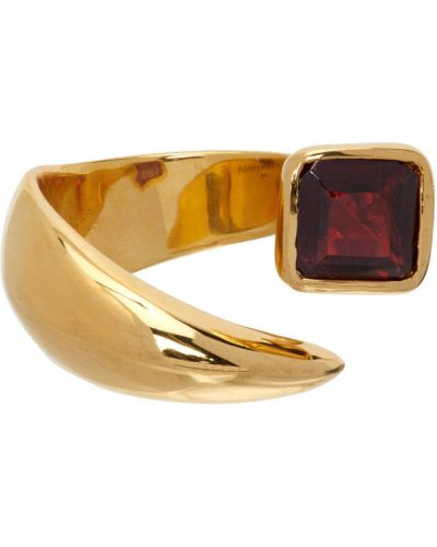 Czerwony złoty pierścionek Alan Crocetti
