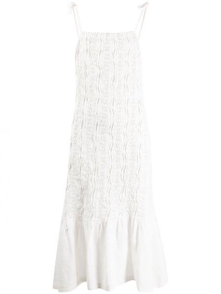 Платье миди с вышивкой с оборками Jil Sander