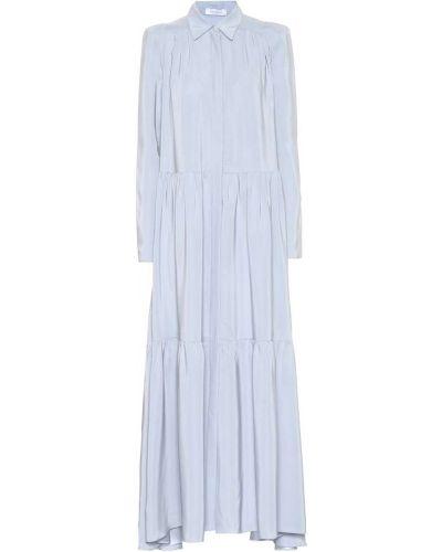 Норковое платье макси Ryan Roche