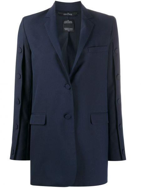 Синий пиджак с карманами на пуговицах Rokh