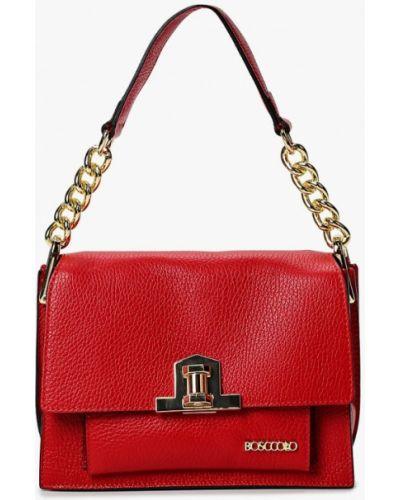 Кожаная сумка - красная Bosccolo