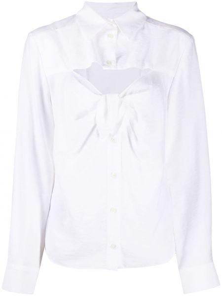 С рукавами белая классическая рубашка с воротником Jacquemus