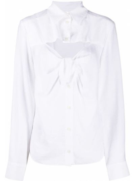 Рубашка с завязками - белая Jacquemus