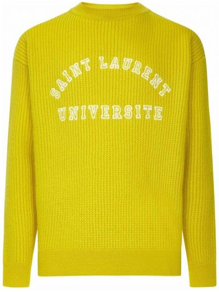 Żółty sweter Saint Laurent