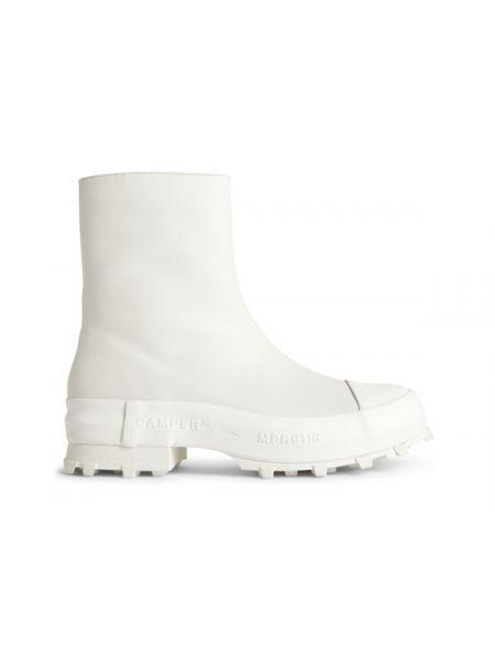 Białe ankle boots skorzane Camper