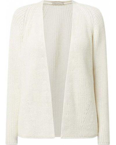 Biały kardigan bez zapięcia bawełniany Drykorn