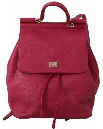 Złoty różowy plecak oversize Dolce And Gabbana