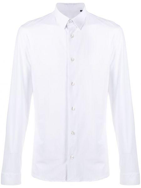 Biała koszula z długimi rękawami Hydrogen