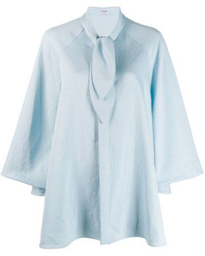 Свободная синяя расклешенная рубашка Palomo Spain