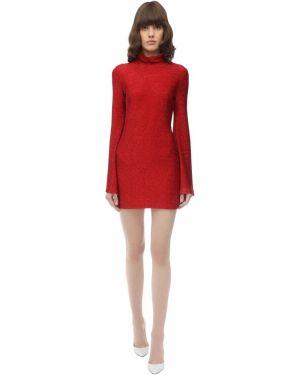 Платье с люрексом с длинными рукавами Sara Battaglia