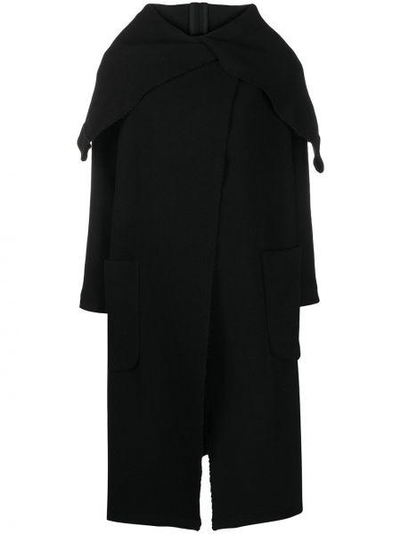 Кашемировое пальто классическое оверсайз с капюшоном Société Anonyme