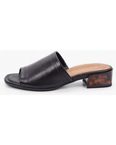 Черные кожаные сабо Tamaris