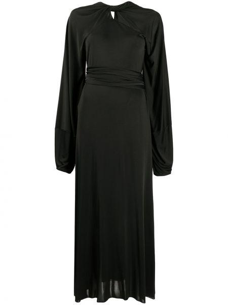 Шелковое платье макси - черное Maison Margiela
