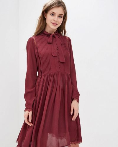 Платье - бордовое Lusio