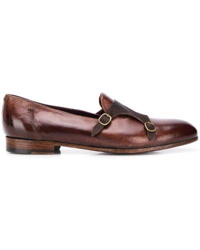 Коричневые классические туфли на каблуке Lidfort