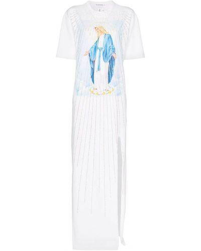 Платье мини футболка с вырезом Filles A Papa