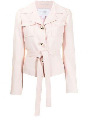 Розовый удлиненный пиджак с карманами на пуговицах Giambattista Valli