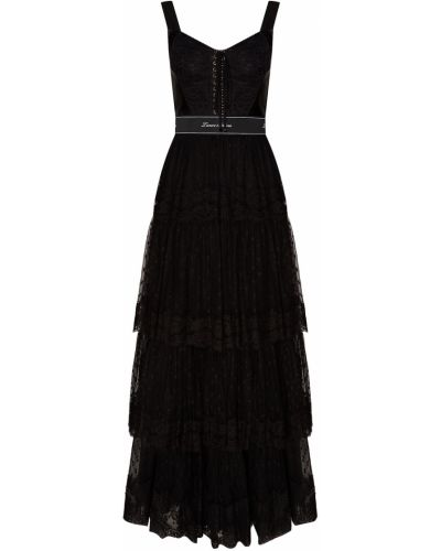 Вечернее платье с оборками облегающее Dolce&gabbana