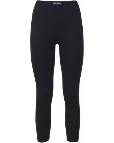 Czarne spodnie z printem Adam Selman Sport
