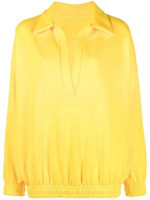 Желтое хлопковое поло с воротником Styland