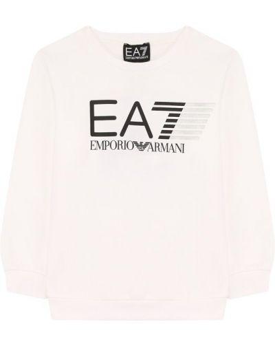 Свитер стрейч с логотипом Ea 7