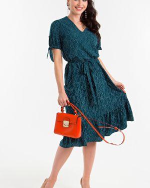 Платье с поясом в горошек платье-сарафан Lady Taiga