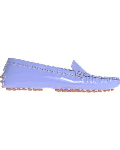 Фиолетовые кожаные мокасины Gianros